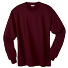L/S Hanes 5.2 oz Comfortsoft Cotton T-shirt