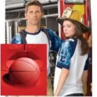 Everyday Life Basketball Theme Print Raglan Jersey