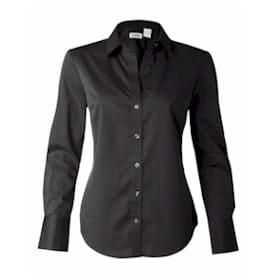 Calvin Klein LADIES' Micro Herringbone Dress Shirt