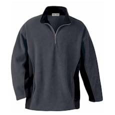 North End Color Block Polyester Fleece Half Zip