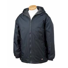 Dickies Fleece-Lined Hooded Nylon Jacket