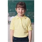 S/S French Toast GIRLS Interlock Picot Polo