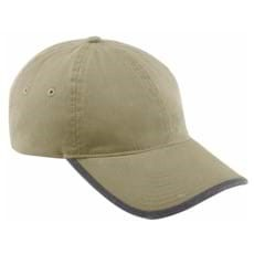 North End Vintage Chino Twill Cap w/ Rolled Edge