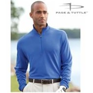 Page & Tuttle | Page & Tuttle Quarter Zip Pin Dot Interlock