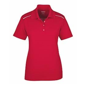 Core365 Ladies' Piqué Polo w Reflective Piping
