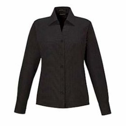 North End | North End LADIES' Wrinkle-Free Twill Taped Shirt