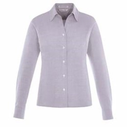 North End | North End LADIES' Wrinkle-Free Cotton Dobby Shirt