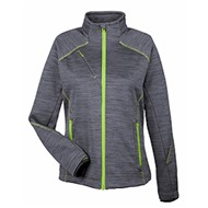 North End | NE LADIES' FLUX Melange Bonded Fleece Jacket