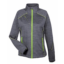 NE LADIES' FLUX Melange Bonded Fleece Jacket