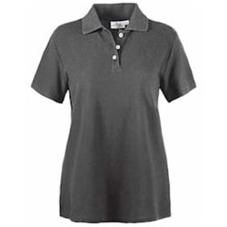 AKWA LADIES' Made in U.S.A. Cotton Pique Polo