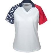 AKWA LADIES' MADE IN USA Patriotic Polo