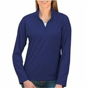 Blue Generation LADIES' Solid Zip Pullover