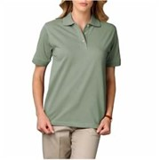 "BGLADIES' SHORT SLEEVE ""SUPERBLEND"" POLO"