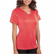 Blue Generation LADIES' Heathered V-Neck Tee