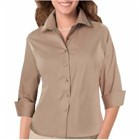 Blue Generation LADIES' 3/4 Sleeve Twill Shirt