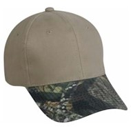 Outdoor Cap | Outdoor Cap Brushed Twill Camo Visor
