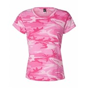 Code V LADIES' Fine Jersey Camo T-shirt