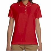 Devon & Jones LADIES' Pima Pique Tipped Polo
