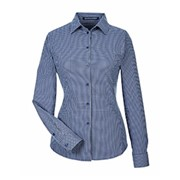 D&J CrownLux Ladies' Tonal Mini Check Shirt