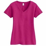 District Made LADIES' Super Slub V-Neck Tee