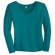 District Made LADIES' Drapey Long Sleeve Tee
