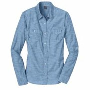 DISTRICT Made LADIES' L/S Washed Woven Shirt