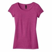 DISTRICT JUNIORS Textured Girly Crew Tee