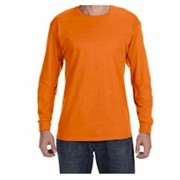 L/S Hanes Tagless 6.1 oz Cotton T-shirt
