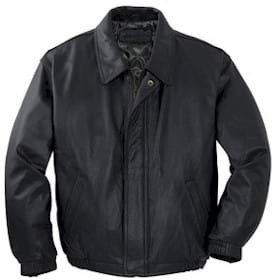 low priced 7dca3 7586f Port Authority Leather Bomber Jacke