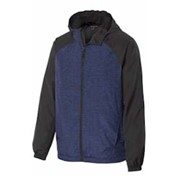 Sport-Tek Heather Raglan Hooded Wind Jacket