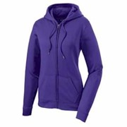 Sport-Tek LADIES' Fleece Full-Zip Hooded Jacket