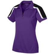 Sport-Tek LADIES' Tricolor Shoulder Polo
