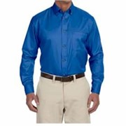 Harriton Long-Sleeve Twill Shirt with Stain