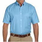Harriton Short-Sleeve Oxford with Stain Release