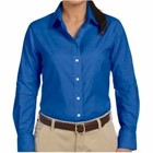 Harriton Ladies' Long-Sleeve Oxford w/ Stain Rele