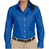 Harriton |  Harriton Ladies' Long-Sleeve Oxford w/ Stain Rele