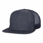 Mega Cap Flat Bill 5-Panel Trucker Cap