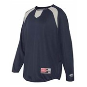 RAWLINGS L/S Flatblack Mesh Fleece Pullover