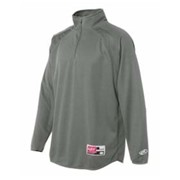 RAWLINGS 1/4 Zip Flatback Mesh Fleece Pullover