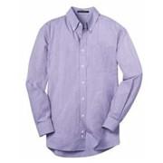 Port Authority Plaid Pattern Easy Care Shirt
