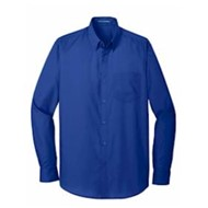 Port Authority | Port Authority® Tall L/S Carefree Poplin Shirt