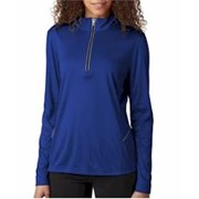 UltraClub LADIES' Sport 1/4-Zip Pullover