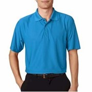 UltraClub Cool & Dry Box Jacquard Performance Polo