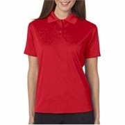 UltraClub LADIES' Elite Mini-Check Jacquard Polo