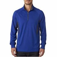 Ultra Club | UltraClub Block Dimple Mesh 1/4 Zip Pullover