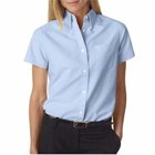 UltraClub Ladies' Classic Wrinkle-Free S/S Oxford