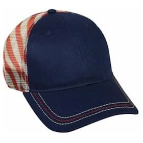 7edf6c38b Outdoor Cap USA Flag Mesh Back Panel Cap