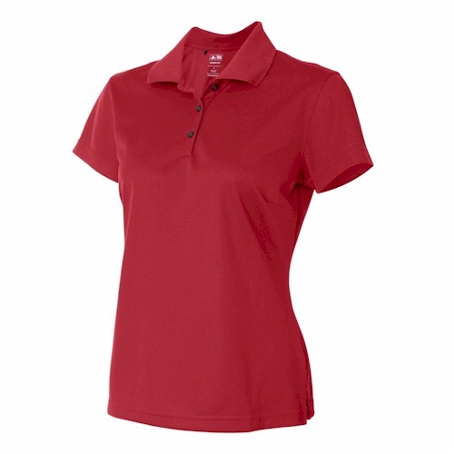 Adidas Golf LADIES' ClimaLite Pique S/S Polo