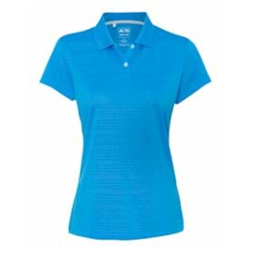 Adidas LADIES' ClimaLite Textured S/S Polo