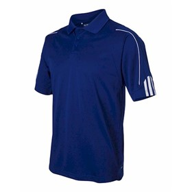 Adidas Golf ClimaLite Three-Stripe Cuff Polo